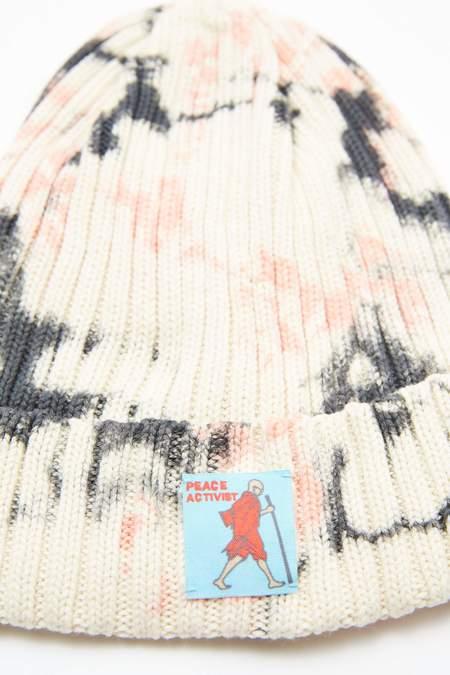 Kapital KOUNTRY 5G Cotton ASHBURY DYED Beanie - Black/Pink