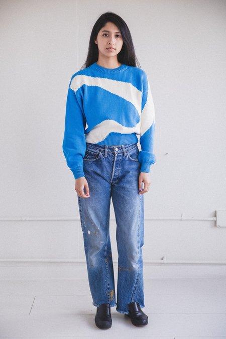 Paloma Wool COTTON PIN SWEATER -  BLUE