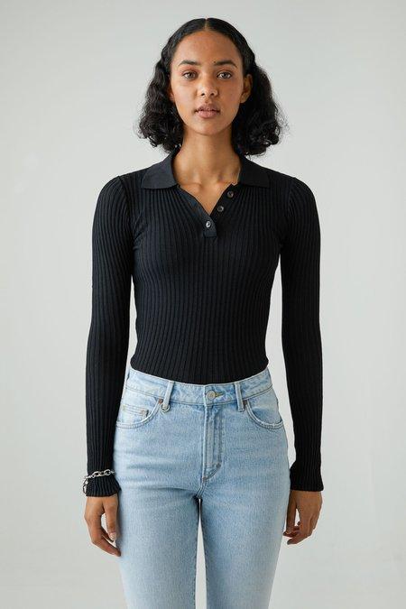 NEUW Jaye Rib Knit Long Sleeves - Black