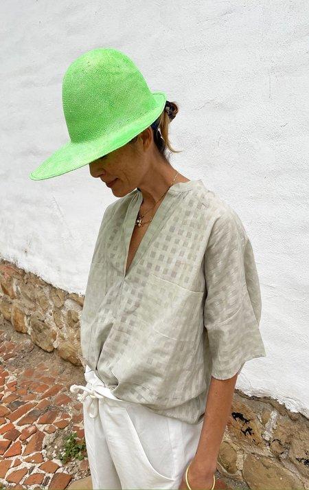 Reinhard Plank half brim Hat - Fluorescent green