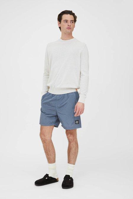 PRESIDENTS Crew Knit Giza Cotton sweater - White Melange