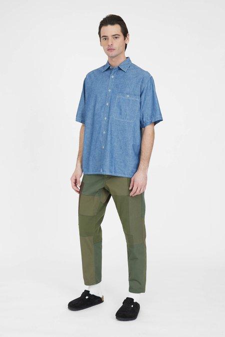 Orslow Loose Fit Short Sleeve Shirt - Chambray