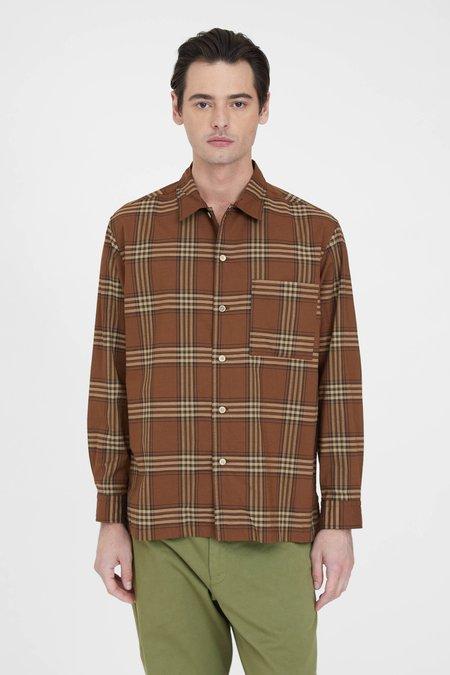Sage de Cret Open Collar Shirt - Brown