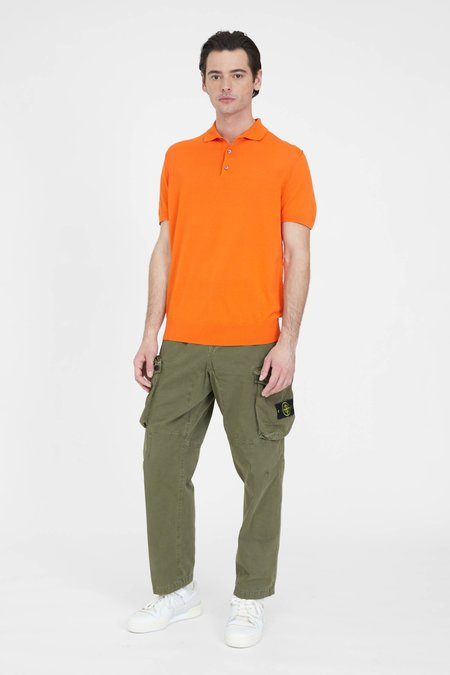PRESIDENTS Knit Giza Cotton Polo - Orange