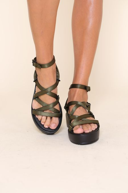 """INTENTIONALLY __________."" Sum 2 sandal - Khaki"