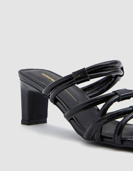 """""""INTENTIONALLY __________."""" Willow II sandals - Black Patent"""