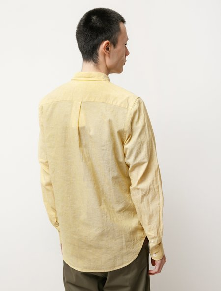 Norse Projects Osvald BD Cotton Linen shirt - Sunwashed Yellow