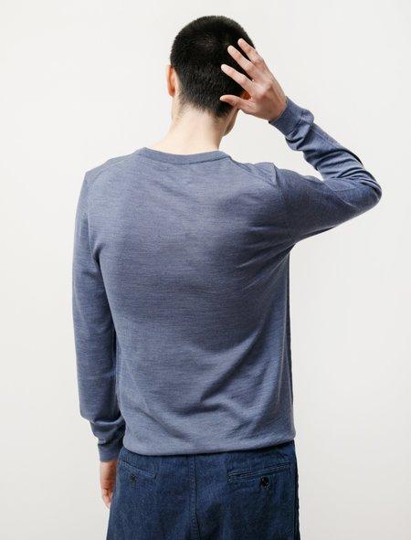 Norse Projects Sigfred Light Merino sweater - Scoria Blue