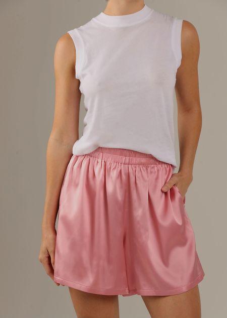 Parentezi Silk Shorts - Pink