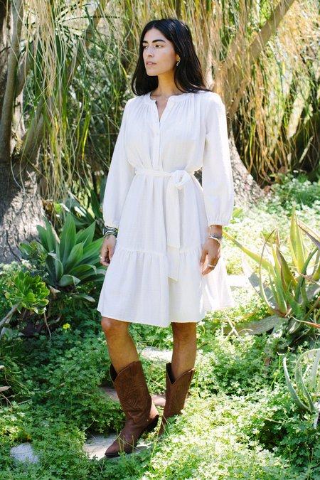 Rachel Pally Margaux Textured Linen Dress - Cloud Check