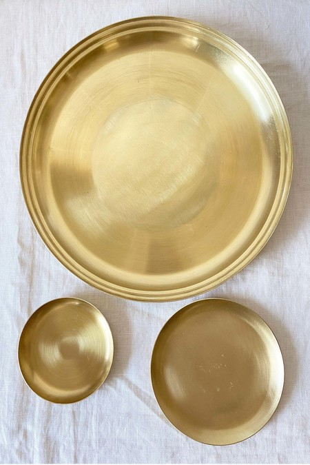 139 project Brass round tray Gift box set
