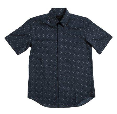 Outclass Short Sleeve DRESS DOBBY SHIRT - Navy
