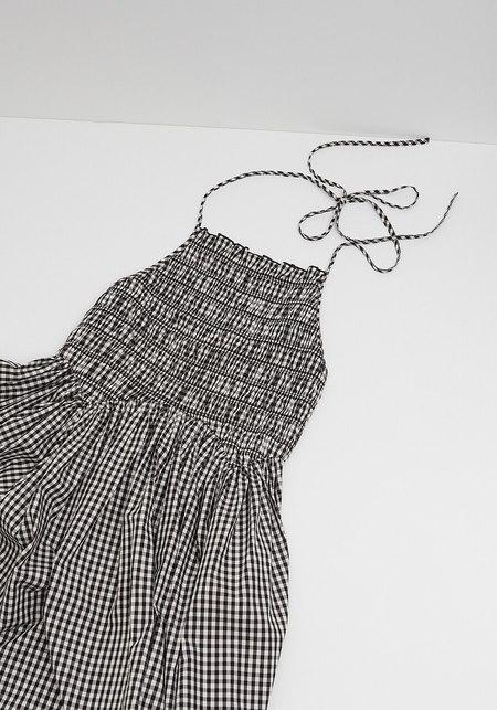Sandy Liang Goose Dress - Black Gingham
