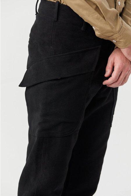 House of St. Clair Lodge Cargo Pant - Black Moleskin