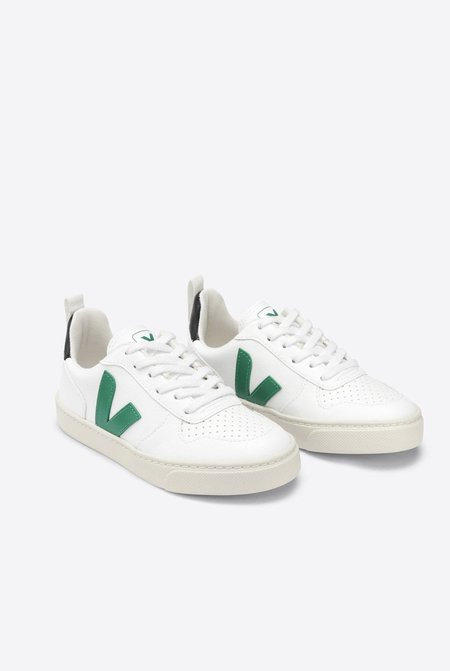 kids VEJA V-10 Lace Cwl shoes - White