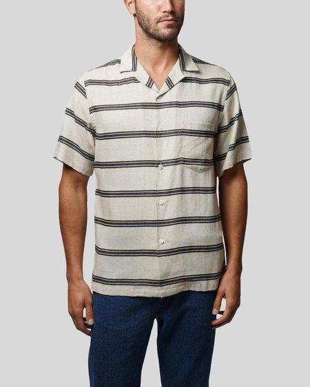 Portuguese Flannel San Francisco Shirt - Black Stripe