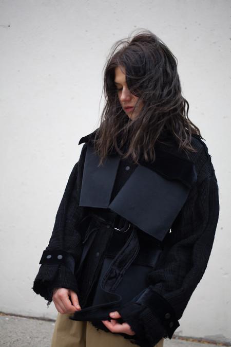 Luna Del Pinal Handmade Textured Black Jacket