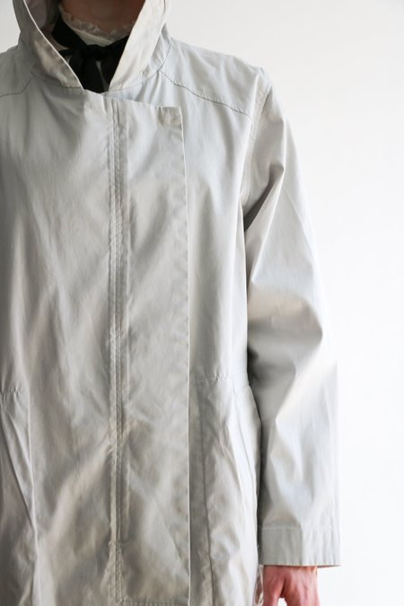 Pre-loved Helmut Lang Hooded Raincoat - Stone