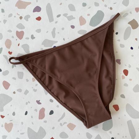 Nu Swim Cleo String Bikini Bottom - Cocoa
