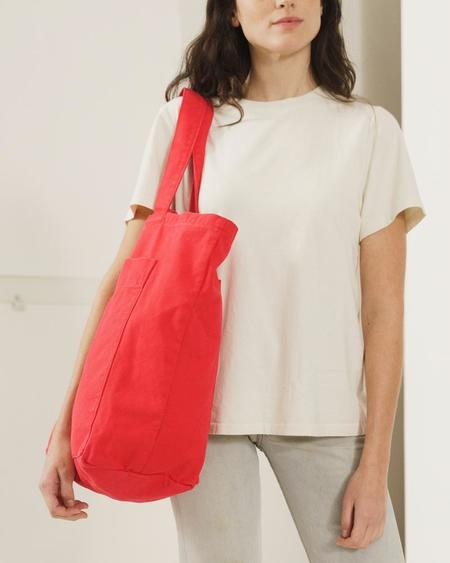 Baggu Giant Pocket Tote - Washed Punch Red