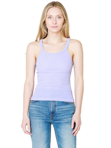 Re/Done The Ribbed Tank - Faded Orchid