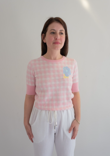 Manoush Saint Tropez Knit Top - Pink