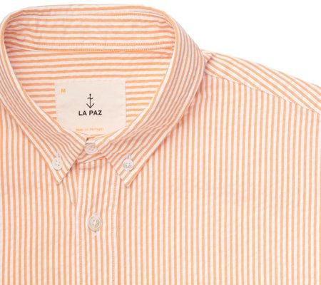 La Paz Branco Stripe Shirt - Peach