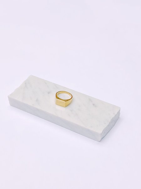The Thorny Roses Barcelona Signet Ring - 14k Gold