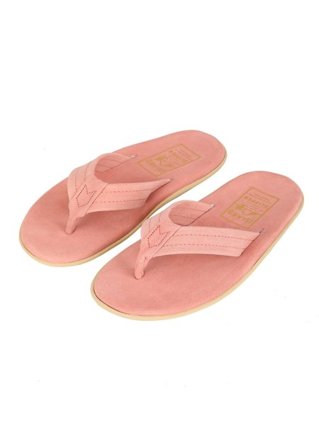 Island Slipper Suede Thong Sandal - PINK SUEDE