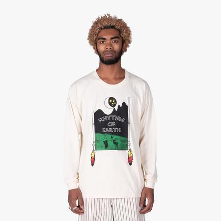 Good Morning Tapes Rhythm of Earth Long Sleeve T-shirt - Natural