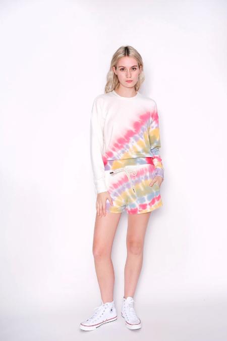 Stateside Rainbow Tie Dye Sweatshirt - White/Multi