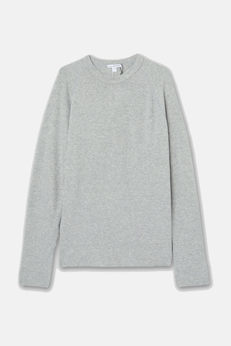 James Perse Vintage Fleece Raglan Sweatshirt Sweater - Heather Grey