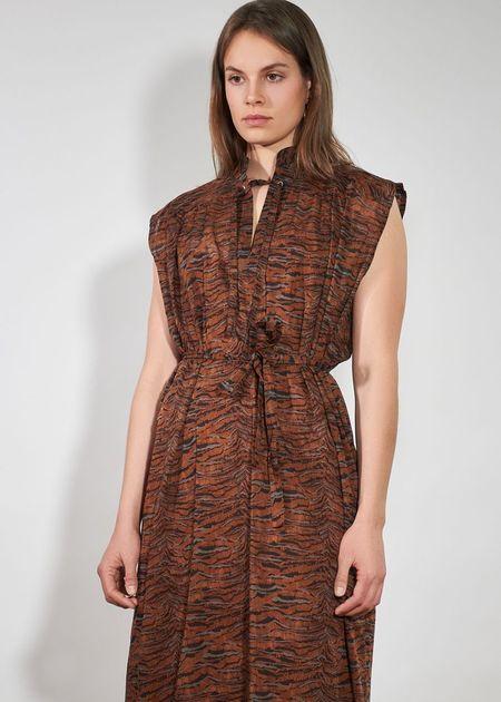 Roseanna Landscape Dreamer Dress - Caramel