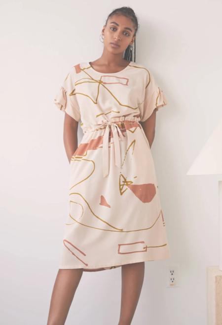 Eve Gravel Afternoon Song Dress - Ugo Cream