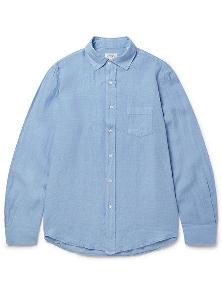 Hartford Paul Linen Shirt - Baltic