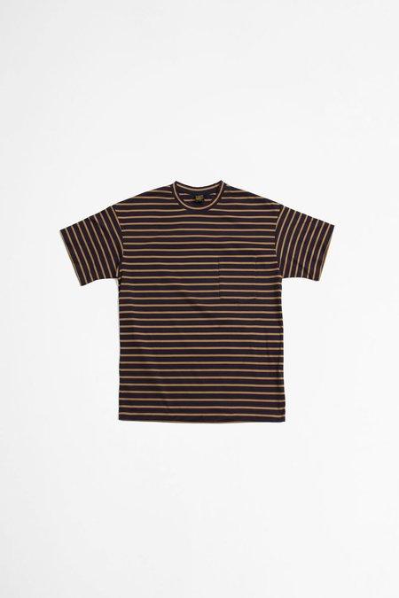 A Vontade Border T-shirt - Navy/Tan