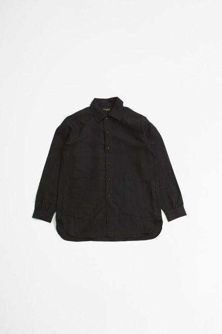 A Vontade Linen Gardener Shirt - Black