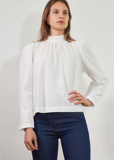 Roseanna Taffetas Syl Blouse - White