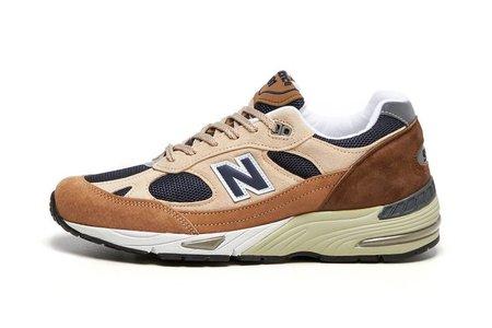 NEW BALANCE M991SBN sneakers - brown/beige/navy