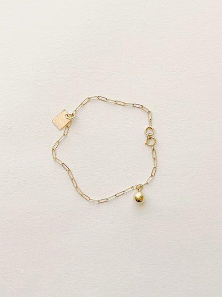 Highlow Rectangle Sphere Charm Bracelet