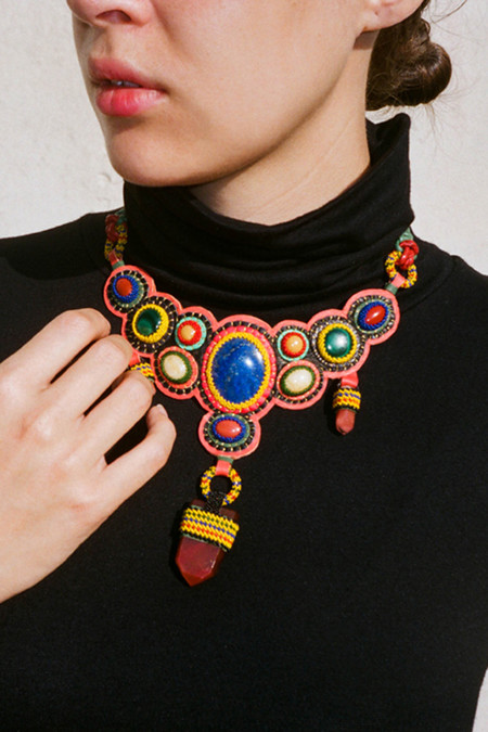 Robin Mollicone One of a Kind Woven Necklace