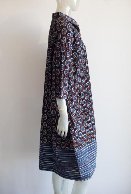 Yaza Print Jacket - indigo blue/magenta