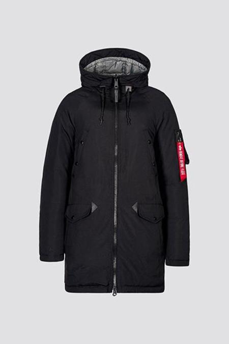 Alpha Clothing Down Parka - Black