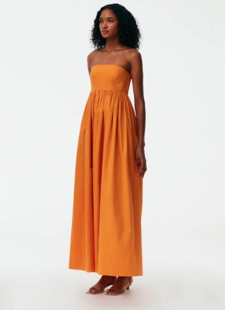 Tibi Eco Poplin Cocoon Dress - orange