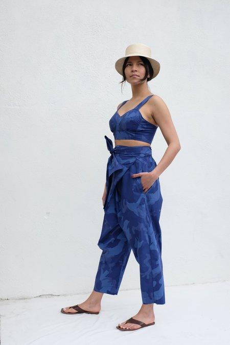 Caron Callahan Nicole Pant - Blue Camo