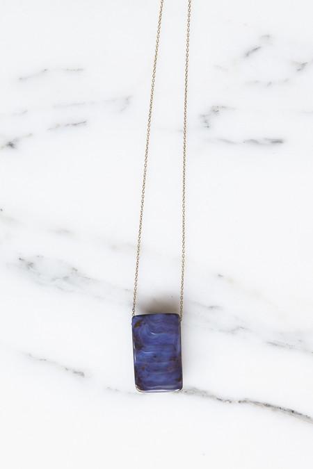 Jessica Winzelberg Rectangle Boulder Opal Pendant