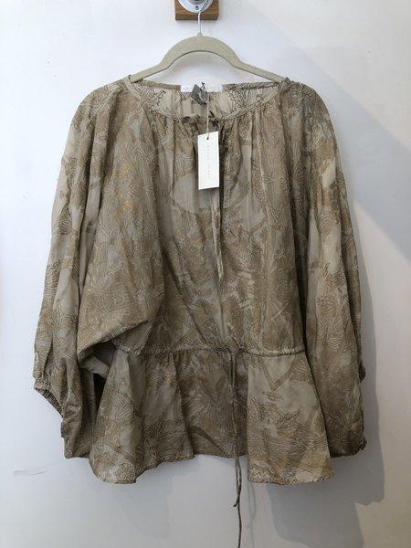 PRE-LOVED Erica Tanov boho blouse - Gold print