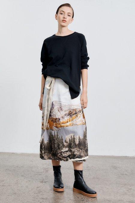 Milk & Thistle Wrap Skirt - Washington Print