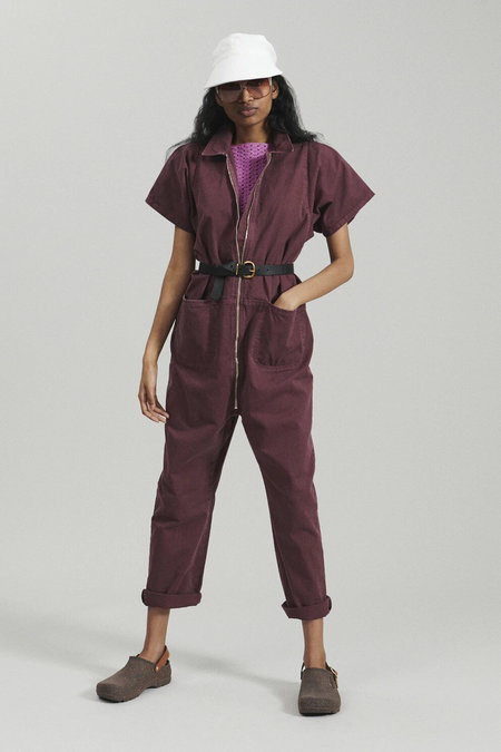 Rachel Comey Barrie Chino Twill Jumpsuit - Clay