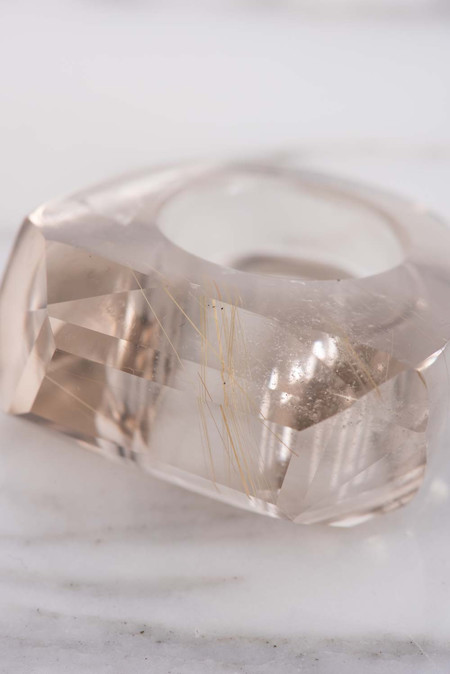 Kathleen Whitaker Rutilated Quartz Rock Ring